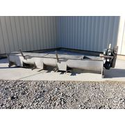 "Used 16"" dia. x 14' Long Stainless Steel Screw Auger Conveyor"