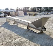 "Used 16"" dia. x 21' Long Cozzini Inclined Stainless Steel Screw Auger Conveyor"