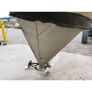 Used 350 cu.ft. Aluminum Silo Storage Bin Cone Hopper
