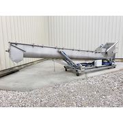 "Used 20"" dia. x 21' Long Portable MTC Stainless Inclined Screw Auger Conveyor"