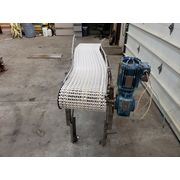 "Used 14"" W x 5'-6"" Long Stainless Grid Belt Conveyor"
