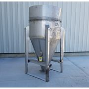 Used 60 Cubic Foot Stainless Steel Portable Mobile Hopper Bin