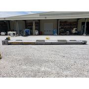 "Used 20"" W x 28' Long SMC Stainless Steel Drag Conveyor"