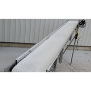 "Used 18"" wide x 13' long inclinded Belt Conveyor"