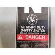 GE 200amp Fused Safety Switch Indoor Enclosure - Type 1