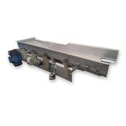 "Used 18"" Wide x 76"" Long Meyer Stainless Steel Vibrating Feeder Shaker Conveyor"