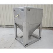 Used 40 Cu. Ft. Stainless Steel IBC Tote Bin Portable Hopper