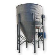 Used Bolted Galvanized Steel Silo Bin Hopper - 450 cu/ft