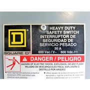 Square D Fused Safety Switch Heavy Duty 30Amp - [LOT of 2]
