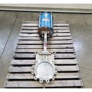 "Used 10"" Dezurik Knife Gate Valve Stainless Steel - KCB"