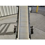 "10""W Incline Cleated Belt Conveyor 8' ht. - Portable"