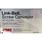 "Used Link Belt Jacketed Mixing Ribbon Screw Paddle Conveyor 9"" Dia x 15' L"