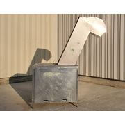 "Used Stainless Steel 12""W Cleated Incline Belt Conveyor 6'-3"" Disch. Ht"