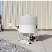 "Used 40 cu. Ft. Portable Dry Storage Hopper w/ 6"" Auger Discharge"