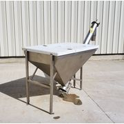 Used Stainless Screw conveyor with hopper