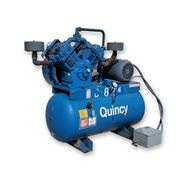 Used 25HP Quincy Air Compressor Reciprocating Piston Model 5120