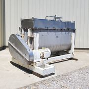 Used 100 Cubic Foot Stainless Steel Horizontal Double Ribbon Blender Mixer