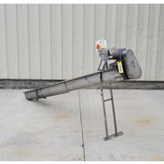 "Used 6"" dia. X 11'L Industrial Stainless Steel Screw Auger Conveyor"