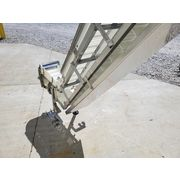 "Used 12"" Wide Intralox Sanitary Stainless Steel Cleated Belt Conveyor Elevator"