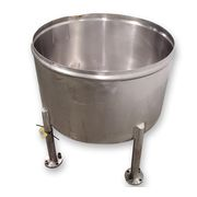 Used 100 Gal. Stainless Steel Sanitary Kettle / Open-top Tank