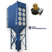 New US Air Filtration Industrial Cartridge Dust Collector 4DCP-16 w/7000 CFM Fan