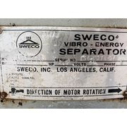 "Used 60"" Sweco LS60 Vibro-Energy Stainless Steel Separator Single Deck Screener"