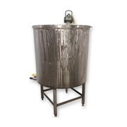 Used 220 Gallon Stainless Steel Vertical Mix Tank