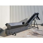 "Used 18""w Cleated Inclined Portable Belt Conveyor"