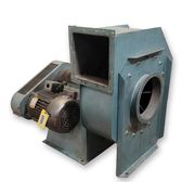"Used 3400 CFM @ 10"" SP 10HP Industrial Radial Blade Material Handling Fan"