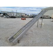 "Used Plastic Link Stainless Steel Belt Conveyor 15"" wide X 10' L [PARTS]"