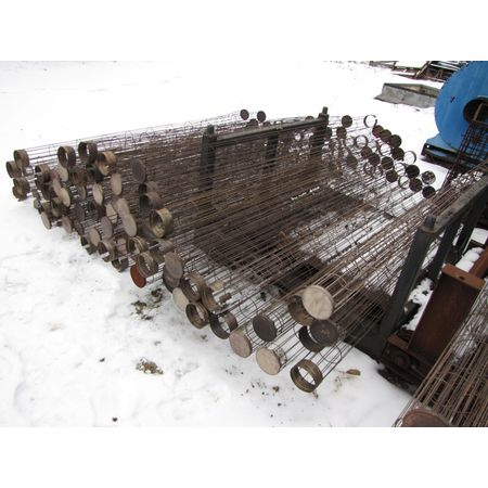 "Used 4.5"" Dia X 96"" Long Mikropul Stainless Steel Cages"