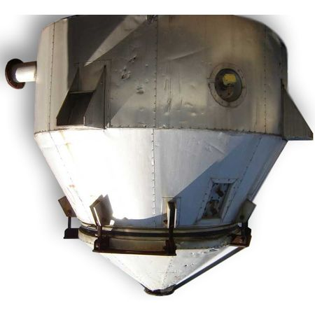 Used 300 FT3  Insulated Hopper w/ 6' dia Vibra Screw Bin Activator Live Bottom