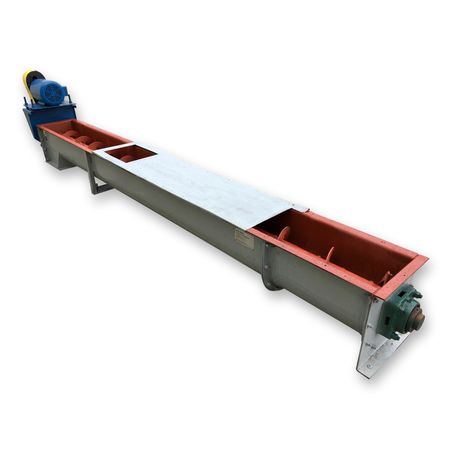 "Used 12"" dia X 13' Long FMC Link-Belt Ribbon Screw Auger Conveyor"