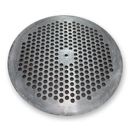 "Used 24"" diameter stainless steel perforated plate"