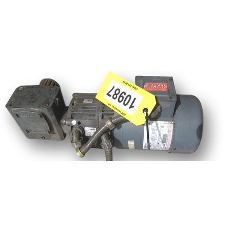 USED 3/4 HP CENTURY INVERTER DUTY AC MOTOR W/ REDUCER & ELECTRIC BRAKE