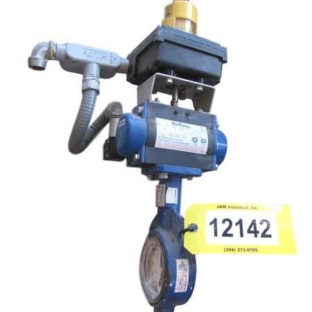 "USED 3""Ø DELVAL BUTTERFLY VALVE - 2 HOLE WAFER"