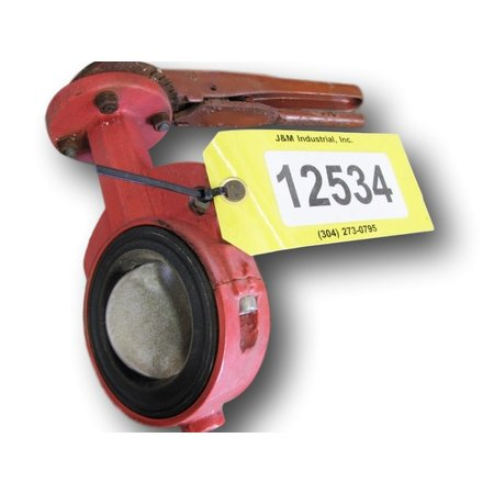 "USED 3"" BRAY MANUAL BUTTERFLY VALVE"