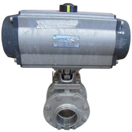 "2.86"" AERO2 PNEUMATIC STAINLESS STEEL BALL VALVE"