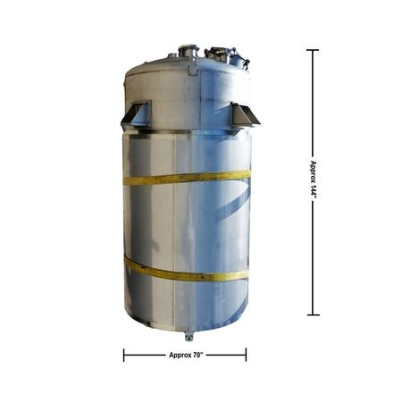 Unused 1650 Gallon 316l Stainless Pressure Vessel Jacketed Tank