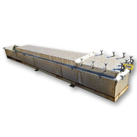 Used Stainless Steel Trough Bath