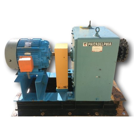 Used 25 HP Philadelphia 9HL3 Gearmotor [ 70.6:1 ratio]