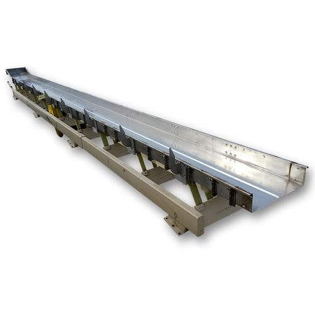 "Used Cardwell Vib-o-vey 24"" x 34'-5"" L Stainless Steel Vibrating Shaker Conveyor"