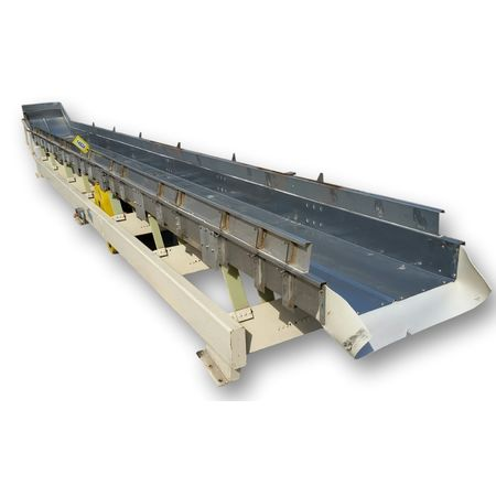 "Used 24"" wide x 27'-7"" long Cardwell Machine Vibe-o-vey Vibrating Conveyor"