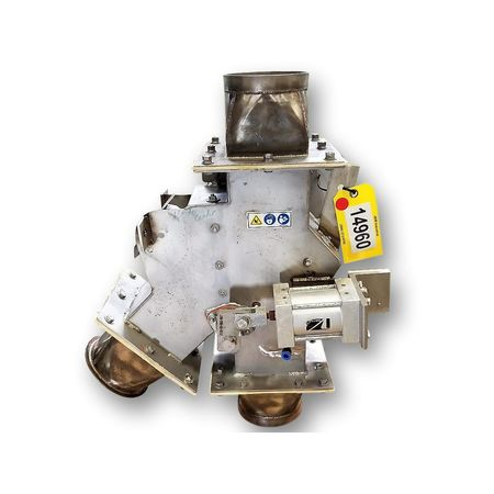 "Used 6"" Dry Bulk Reject Gravity Diverter Valve"