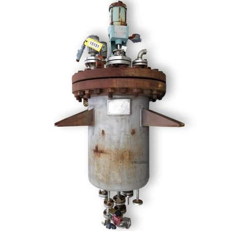Used Evans and Sons Pressure Vaccum rated reactor vessel mix tank
