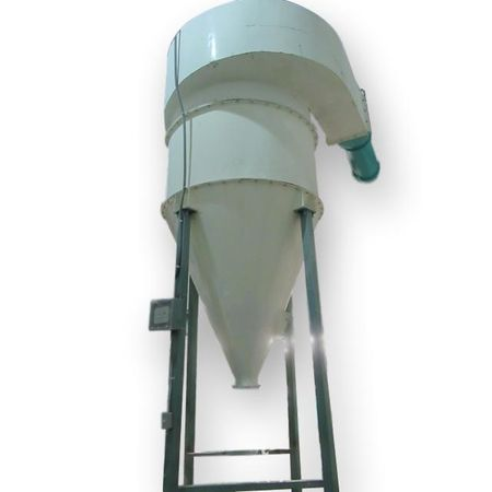 Used 3200 CFM Cyclone Pulse Jet Bag House Filter Dust Collector