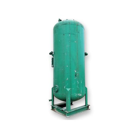 Used 800 Gallon Compressed Air Receiver Vertical Pressure Tank