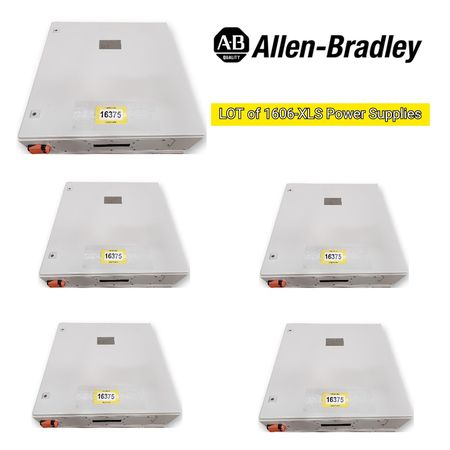 Lot of (5) Surplus Electrical Enclosures w/ Allen Bradley Power and Point I/O