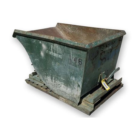 Used 1 Cubic Yard Wright Self-Dumping Hopper