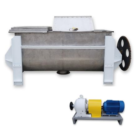 Used 75 cubic foot Stainless Ribbon Blender w/ 30HP drive